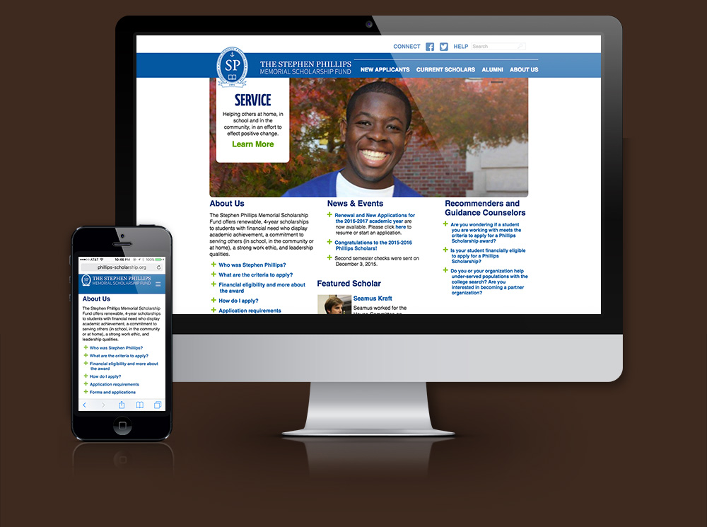 The Stephen Phillips Memorial Scholarship Fund Website