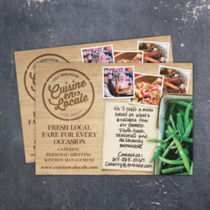 Flat Photography Postcard for Sustainable Catering Company